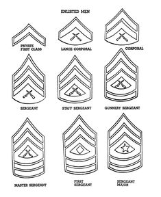 Marine Corps Coloring Pages | ... Pages - US Army Rank Insignia - American Armed Forces Coloring pages