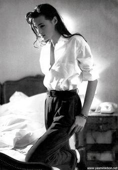 Yasmin le Bon by Pamela Hanson, Vogue Paris, March 1988
