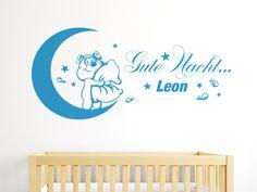 Niedlicher Gute Nacht Gruß als Wandtattoo fürs Kinderzimmer. Personalisierter mit Namen