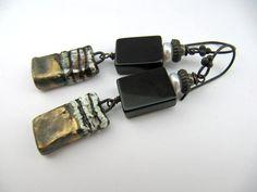 Lull  handmade earrings with handmade ceramic by somethingtodo