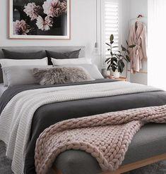 cozy & luxury master bedroom decor ideas 49 - Decoration for All Room Ideas Bedroom, Bedroom Colors, Home Decor Bedroom, Modern Bedroom, Contemporary Bedroom, Bed Room, Bedroom Goals, Adult Bedroom Ideas, Gray Bedroom
