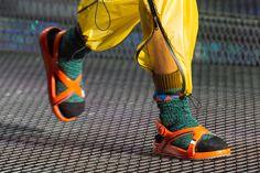 Socks + Sandals. Prada SS17 #menswear #fashion