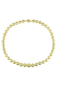 Tahitian Pearl 9-11mm Golden South Sea Pearl Necklace In 14k Yellow Gold