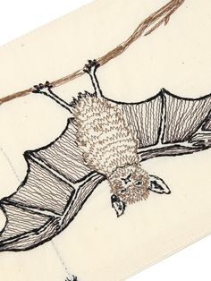 Future Friends | CORAL & TUSK CARD, Dsign by Stephanie Housley | embroidery on cloth, W:18cm H:12.5cm