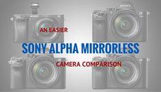 An Easier Sony Alpha Mirrorless Camera Comparison