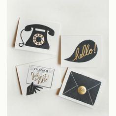 stationery / black & gold
