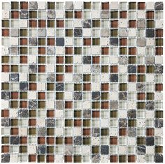 Bliss Cabernet Stone and Glass Square Mosaic Tiles | Rocky Point Tile - Online Glass Tile and Glass Mosaic Tile Store