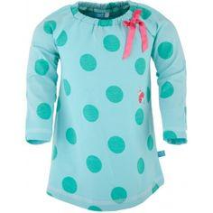 lief! lifestyle mintgroen jurkje voor baby meisjes met stippen dessin | dress for baby girls with dots | zomer 2015 | summer 2015