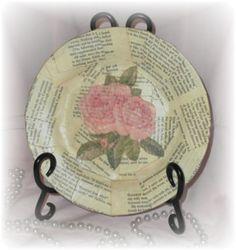 decoupage a plate