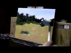 Acrylic Painting Lesson 01 - Trees and Valley - YouTube