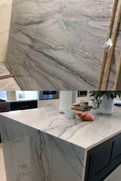 Kitchen Redo, Home Decor Kitchen, Kitchen Ideas, Kitchen Design, White Quartzite Countertops, Revere Beach, Beach House Kitchens, Stone Kitchen, Kitchen Inspiration
