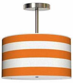 Thao Cabana Stripes Pendant in Multiple Colors (can make this effect with ribbon on white lampshade)