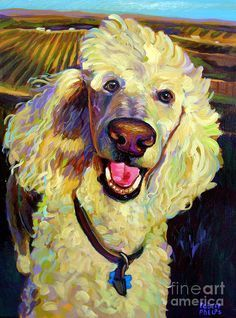 Princely Poodle Painting  - Princely Poodle Fine Art Print