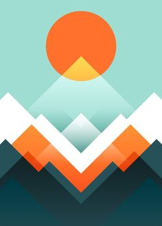 Everest Mini Art Print by Picomodi - Without Stand - x New Retro Wave, Illustration Art, Illustrations, Barn Quilts, Grafik Design, Geometric Art, Framed Art Prints, Vector Art, Adobe Illustrator