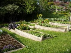 idea for garden bed on slope