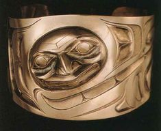 """Raven Transforming. Bracelet by Don Yeomans, 1992. Haida-Cree-Metìs. From """"North American Indian Jewelry and Adornment"""" by Lois Shurr Dubin."""