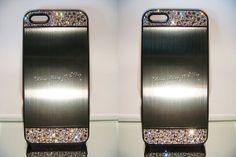 Swarovski crystal Graphite Brushed Aluminium by blingstuffshop, $26.00