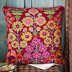 Persian Garden - Ehrman Tapestry 10 holes per inch The kits include a 100% cotton canvas printed in full colour, all the yarns required (100% pure new wool), a needle and an easy to follow guide to get you underway.