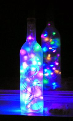 Frosted Wine bottle light