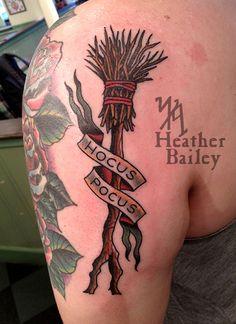 broom tattoo by heather bailey