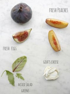 Super Easy Fig + Peach Salad