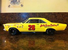 The Yellow Banana...1965 Junior Johnson Holly Farms Ford Galaxie.