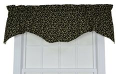 Tremblay Small Scale Scroll M Valance Window Curtain, Black by Ellis Curtain. $26.99. Rich colors with small scale scroll pattern will bring a warm and inviting feel to any room. Constructed with a decorative 3-inch rod pocket and decorative 3' header. Made in the USA; Dry clean recommended. 100% Cotton. 7-Ounce 100-percent cotton duck fabric for smoother draping effect. Measurements 70-inch overall width; 15-inch overall length. Tremblay Small Scale Scroll M Valenc...