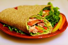 Good for you Chicken Wraps with Cool Guacamole Dressing