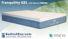 Tranquility GEL with Natural TENCEL® Memory Foam Mattress | Mattresses | BedInABox