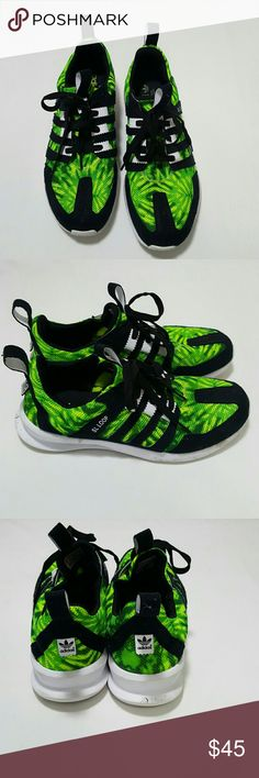 ADIDAS SNEAKERS Green yellow black and white Adidas Sneakers Adidas Shoes