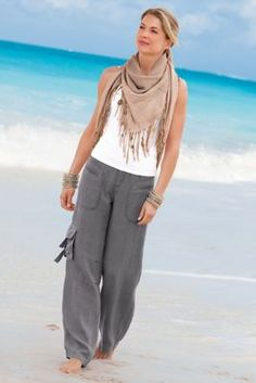 Weekend Linen Pants from Soft Surroundings. They have tall sizes!!!!