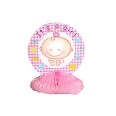 Its a girl tafeldecoratie.  Kraamfeest? Bij Fun en Feest vind je de leukste geboorte versiering en decoratie.