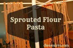 Sprouted Flour Pasta Recipe:  2 ingredients -- sprouted flour and eggs -- so easy and much more nutritious than regular pasta