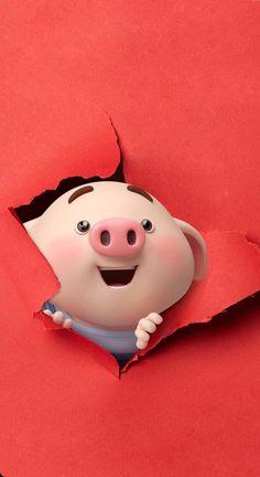Pig Wallpaper, Disney Wallpaper, Kawaii Pig, Cute Piglets, Pig Illustration, Funny Pigs, Pig Art, Baby Pigs, Boxing Day