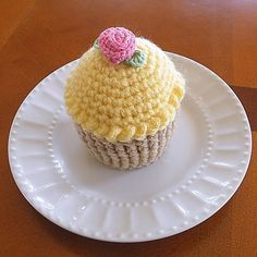 Cupcake Pincushion  Crocheted Cupcake Play by CrystalCreates2001, $8.00