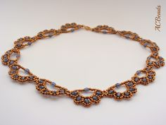 My version of the Barbara Necklace, a design by the Belgium beader TITINE