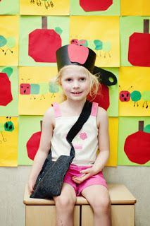 Lots of great Apple math poems and other apple ideas! I like this part of her blog better. http://mrsvento.blogspot.com/2012/09/apple-week.html Johnny Appleseed Hat & Bag for grass planting activity can be found at the original source below.