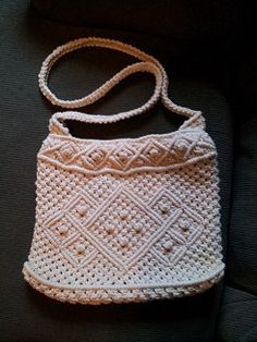 Vintage Macrame Purse by TheWickedQuilter on Etsy, $15.00