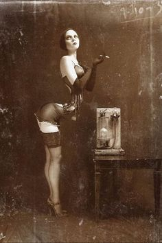 Vintage Pin Up #sexy #creepy #steampunk