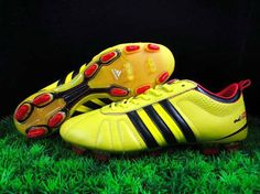 huge discount e90fd 99c6f Adidas Adipure IV TRX FG Football Boots Light Yellow Black Red Soccer  Shoes, Football Boots