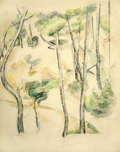 Paul Cézanne (1839–1906) - Study of Pine Trees (Étude de pins) c. 1890–5 - Una colección de Picasso, Degas, Manet, Cezanne, Léger... - 20minutos.es