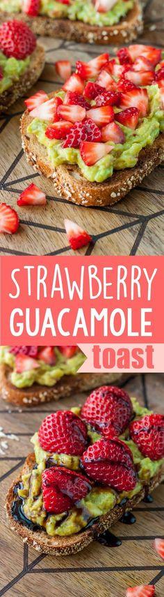 Strawberry Mango Guacamole Toast