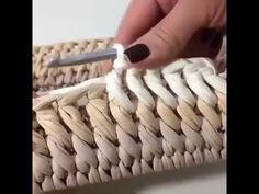 Diy Crochet Stitches, Crochet T Shirts, Crochet Mandala Pattern, Crochet Basket Pattern, Crochet Bowl, Crochet Lace, T Shirt Yarn, Bag Making, Knit Stitches