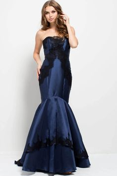 Buy the 51728 Strapless Lace Embellished Mermaid Gown by Jovani at  CoutureCandy.com 525c716bf