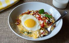 Chipotle Grits Breakfast Bowl A filling and flavorful combination from Buttermilk Lipstick/