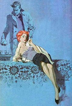"""Robert McGinnis - The Blue Girl - used for Henry S. Maxfield's """"Legacy of a Spy"""""""