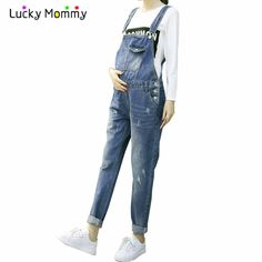 a8747c1ea9a8 Maternity Jeans Denim Cotton Jumpsuit Jumpsuite Casual Maternity Clothes  for Fall Spring Winter Pregnant Trousers Premama