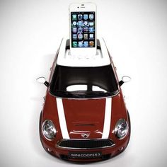 This MINI Cooper iPod Docking Station Will Charge Your Device as it Plays ♥ Loved and pinned by www.enterpriseglass.ca