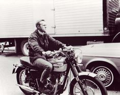 Steve McQueen, Triumph. I could never be as cool as him for one key reason; I want to BE him. To be him is to be original. Plus he's a dude. And dead.