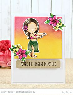 Card by Joy Taylor  (111716)  [My Favorite Things (dies) Die-namics  Blueprints 24, BB Polynesian Paradise; (stamps) BB Polynesian Paradise, Soak up the Fun]